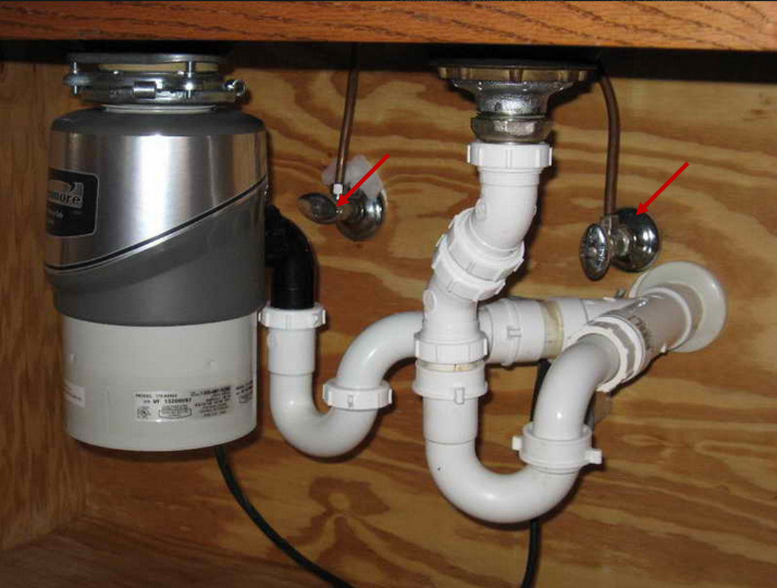 Under Kitchen Sink Valves Simple Minimalist Home Ideas